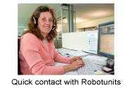 Quick contact with Robotunits