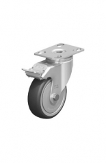 CAS 1080 Swivel Castor with plate and brake 80 mm