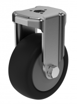 Rigid Castor with bolt hole fitting 80 mm