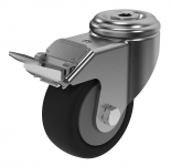 CAS 3080 Swivel Castor with bolt hole fitting and brake 80 mm