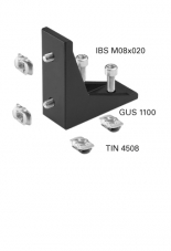Corner Bracket 100 Kit, one side centered